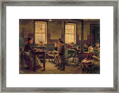 Country School, 1890 Framed Print by Granger