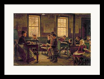 One Room School Houses Paintings Framed Prints