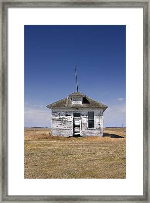 Country School Building Framed Print by Donald  Erickson