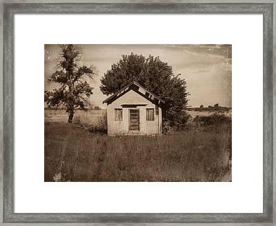 Nebraska School Framed Print by Julie Hamilton