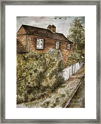 Old English Cottage Framed Print