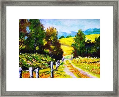 Country Side Framed Print by Ryszard Sleczka