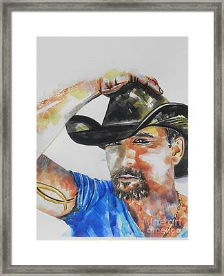 Country Singer Tim Mcgraw 02 Framed Print by Chrisann Ellis