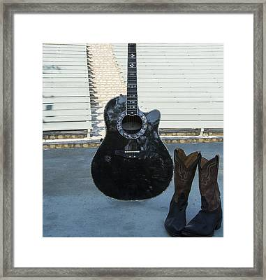 Framed Print featuring the photograph Country-rock Singer Wanted- by Renee Anderson