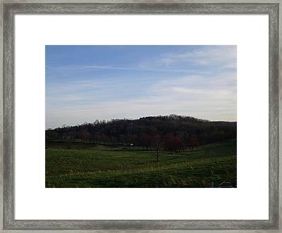 Country Skies  Framed Print by Kiara Reynolds