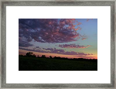 Country Sky Framed Print by Jame Hayes