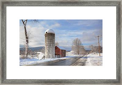 Country Snow Framed Print by Bill Wakeley