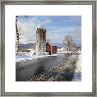 Country Snow Square Framed Print by Bill Wakeley