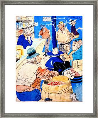Country Store 1890 Framed Print by Padre Art
