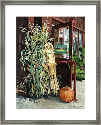 Country Store Framed Print by Barbara Jewell