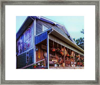 Country Store - Durham Framed Print by Mountain Dreams