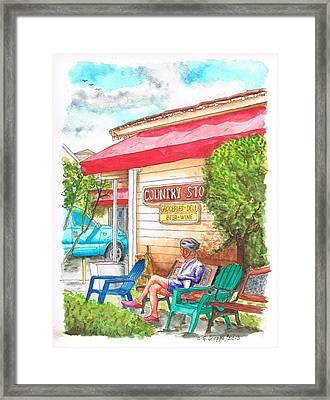 Country Store In Los Olivos - California Framed Print by Carlos G Groppa