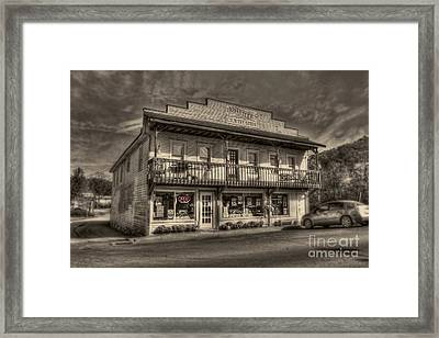 Country Store Open Framed Print by Dan Friend