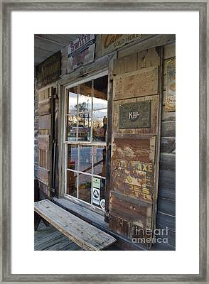Country Store Reflections  Framed Print