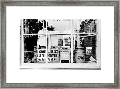 Country Store Window Framed Print