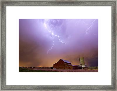 Country Stormy Night Framed Print by James BO  Insogna