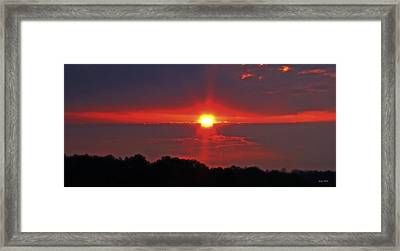 Country Sunrise 003 Framed Print by George Bostian