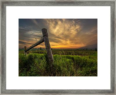 Country Sunrise Framed Print by Aaron J Groen