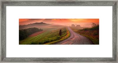 Country Sunrise Bradys Ridge Rd Framed Print by Emmanuel Panagiotakis