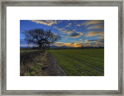 Country Sunrise Framed Print by Ian Mitchell