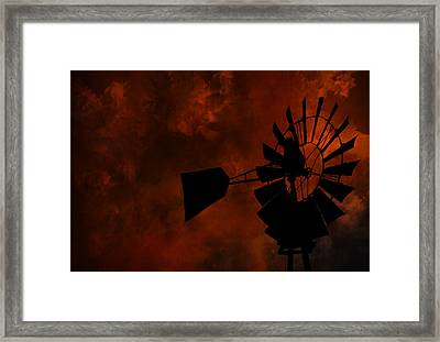 Country Sunset Framed Print by Deena Stoddard