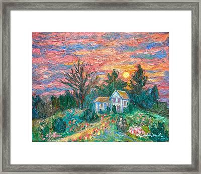 Country Sunset Framed Print by Kendall Kessler