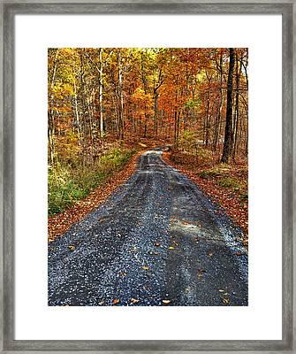 Country Super Highway Framed Print by Lara Ellis