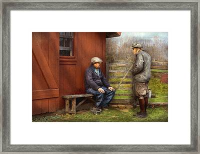 Country - The Farmhands Framed Print by Mike Savad