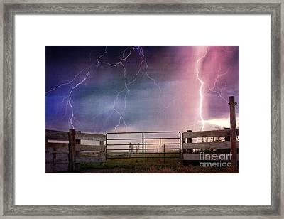 Country Thunder Framed Print