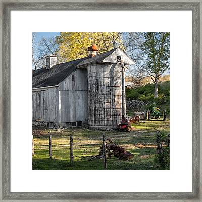 The Barnyard Square Framed Print by Bill Wakeley