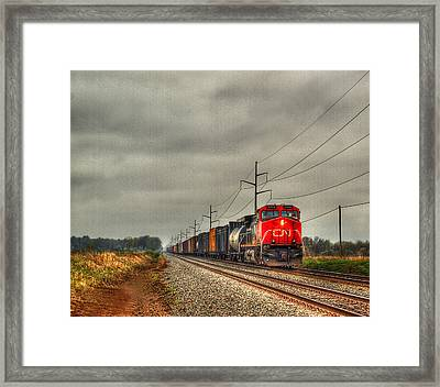 Country Train 1 Framed Print by Thomas Young