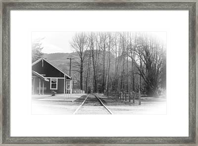 Framed Print featuring the photograph Country Train Depot by Tikvah's Hope