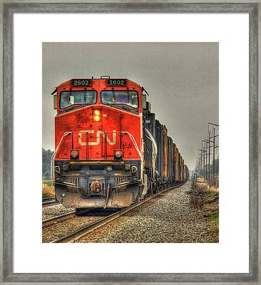 Country Train Hdr Framed Print by Thomas Young