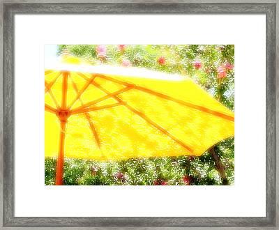 Country Umbrella Framed Print