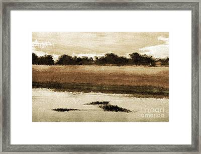 Country View Framed Print by Marcia L Jones