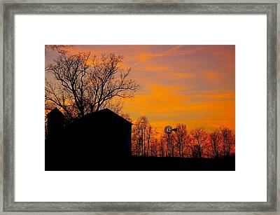 Country View Framed Print