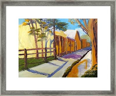 Country Village Framed Print