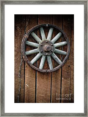 Country Wagon Wheel Framed Print by Jt PhotoDesign