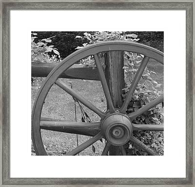 Country Wheel Today Framed Print by Debra     Vatalaro