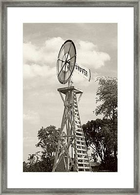 Framed Print featuring the photograph Country Windmill by Ellen O'Reilly