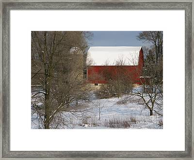 Framed Print featuring the photograph Country Winter by Ann Horn