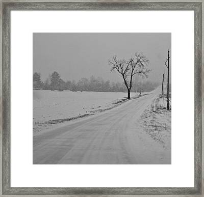Country Winter Roads Framed Print