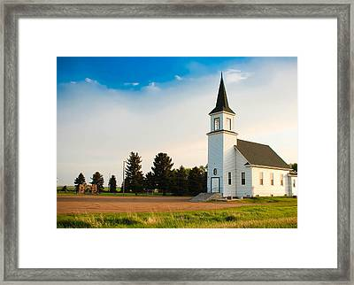 Countryside Church Framed Print
