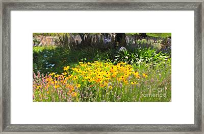 Countryside Cottage Garden 5d24560 Long Framed Print by Wingsdomain Art and Photography