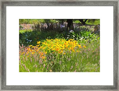 Countryside Cottage Garden 5d24560 Framed Print by Wingsdomain Art and Photography