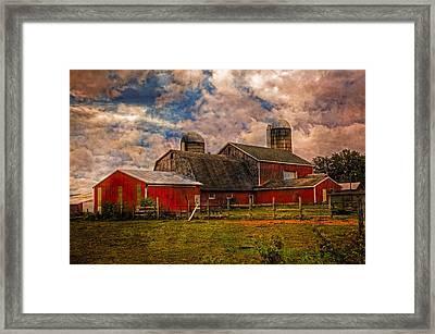 Countryside Framed Print by Debra and Dave Vanderlaan