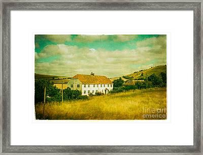 Countryside Homestead Framed Print