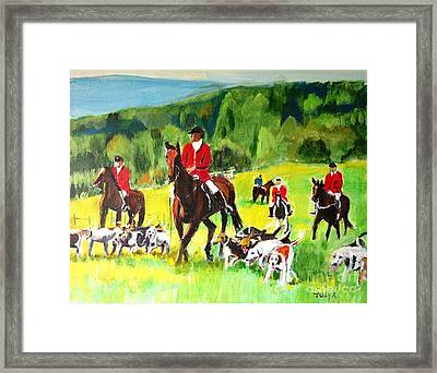 Countryside Hunt Framed Print