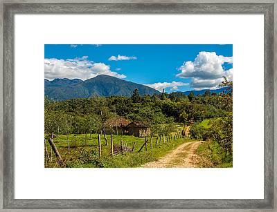 Countryside In Boyaca Colombia Framed Print by Jess Kraft