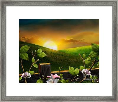Countryside Sunset Framed Print